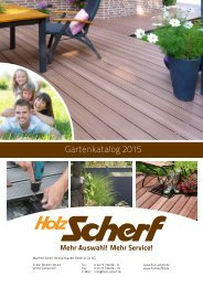 Holz Scherf Gartenkatalog 2015