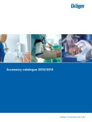 Dräger Hospital Accessory Catalogue 2015/2016 - English