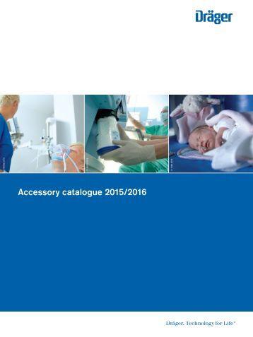 Dräger Hospital Accessory Catalogue 2015/2016 - English