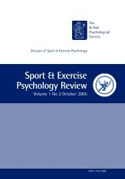 Sport and Exercise Psychology Review - Sport Psychology Goes to ...