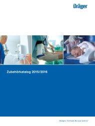 Dräger Krankenhaus Zubehörkatalog 2015/2016 - Deutsch