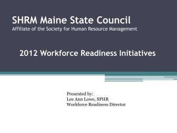 here - SHRM Maine State Council - Society for Human Resource ...