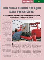 Una nueva cultura del agua para agricultores El Anuario ... - Miliarium