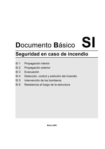 Documento Básico SI Seguridad en caso de incendio