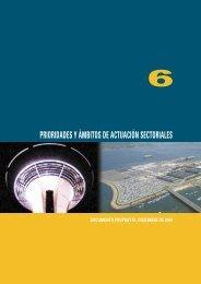 Capítulo 6.- Prioridades y ámbitos de actuación sectoriales - Plan ...