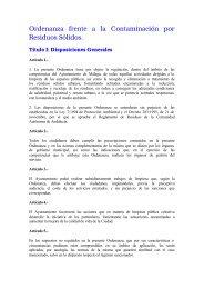 Ordenanza frente a la Contaminación por Residuos Sólidos. - Limasa