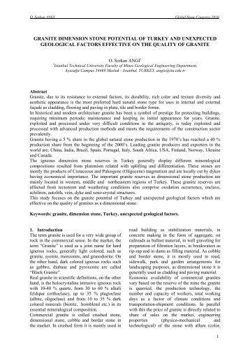 granite dimension stone potential of turkey and unexpected - aidico