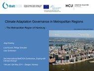Climate Adaptation Governance in Metropolitan Regions ... - BaltCICA