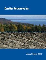 2008 Annual Report - Corridor Resources Inc.