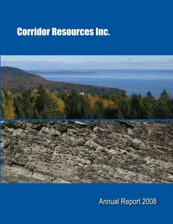 2008 Annual Report - Corridor Resources Inc.