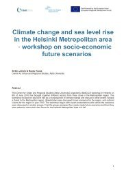 Climate change and sea level rise in the Helsinki ... - BaltCICA