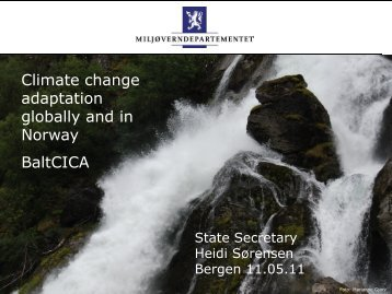 Climate Change Adaptation globally and in Norway - BaltCICA
