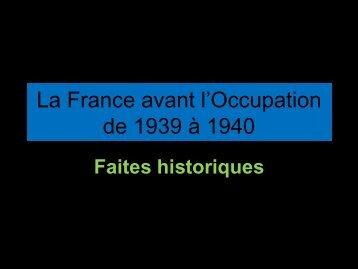 La France avant l'Occupation de 1939 à 1940 - Banchory Academy ...