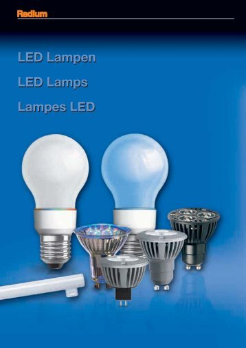 LED Lampen LED Lamps Lampes LED LED Lampen ... - lampia AB