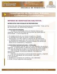 Investigación de Mercados: Métodos Cualitativos y ... - Microweb
