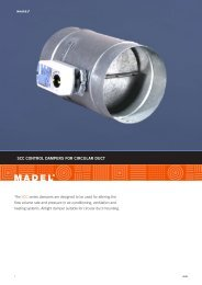 SCC CONTROL DAMPERS FOR CIRCULAR DUCT - Madel