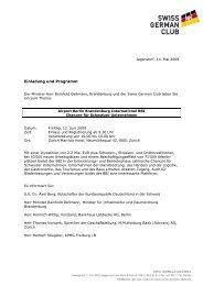 Einladung und Programm (pdf) - Swiss German Club