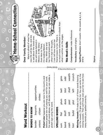 Grade 4 Unit 1 Week 1 - Treasures - Macmillan/McGraw-Hill