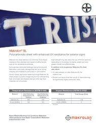 Makrolon® SL LD Flyer - Sheffield Plastics