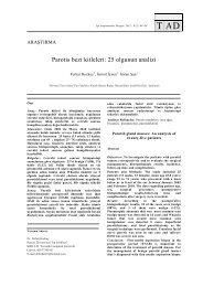 Parotis bezi kitleleri: 25 olgunun analizi - Tıp Araştırmaları Dergisi