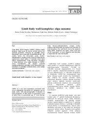 Limb body wall kompleks: olgu sunumu - Tıp Araştırmaları Dergisi