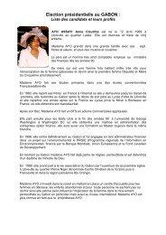 Election présidentielle au GABON - Cameroun link