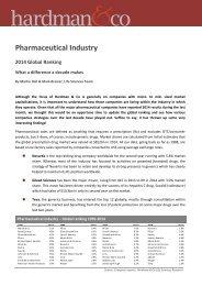 Pharma Industry - March 2015