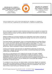 note du rdmc sur la situation des droits de l'homme ... - Cameroun link