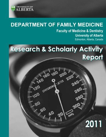 2011 - Department of Family Medicine - University of Alberta