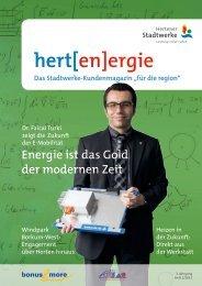 Zum Magazin - Hertener Stadtwerke
