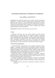 Transfer technologii z uniwersytetu do biznesu - PTZP