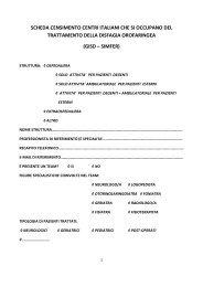 scheda censimento centri italiani che si occupano ... - simferweb.net