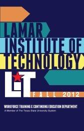 F A L L 2012 - Lamar Institute of Technology