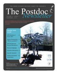 Emory Postdoc Association Newsletter, Volume 6., No. 1