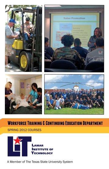 Workforce Training & Continuing Education Department