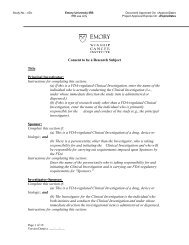 Emory University IRB Consent to be a Research Subject 2