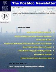 The Postdoc Newsletter - Emory University School of Medicine