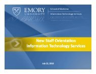 IT Policies and Resources - Emory University School of Medicine