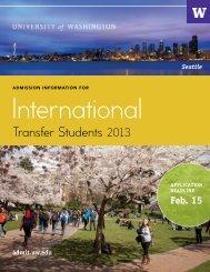 Download - Undergraduate Admissions - University of Washington