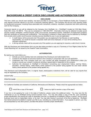 Background Check Authorization Forms to Download