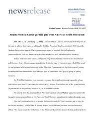 Atlanta Medical Center garners gold from American Heart Association