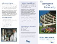 2010 Atlanta Medical Center Brochure