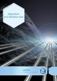 Magnetism and Stainless steel - SCHMOLZ-BICKENBACH.US