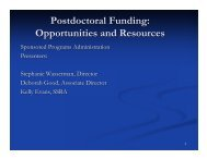 Postdoctoral Funding: Opportunities and Resources - HMS/HSDM ...