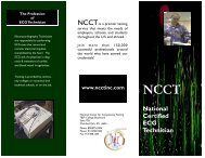 National Certified ECG Technician - National Center for ...