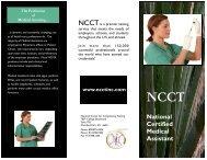 National Certified Medical Assistant - National Center for ...