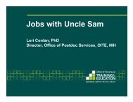 Jobs with Uncle Sam - HMS/HSDM Office for Postdoctoral Fellows