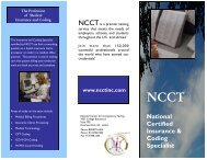 National Certified Insurance & Coding Specialist - National Center ...