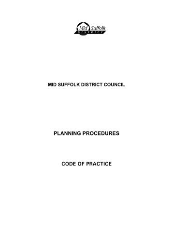 Code of Practice pdf - Mid Suffolk District Council