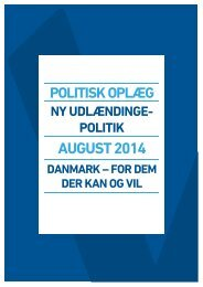 Udlaendingepolitik---Danmark-for-dem-der-kan-og-vil---aug-2014
